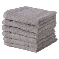 Silver Gray 6 PACK Turkish Cotton Washcloths Towels Set | Super Soft HighlyAbsorbent | Hotel Quality