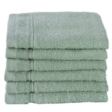 Green 6 PACK Turkish Cotton Washcloths Towels Set | Super Soft Highly Absorbent | Spa&Hotel Quality