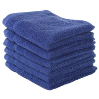 Navy Blue 6 PACK Turkish Cotton Washcloths Towels Set | Super Soft Highly Absorbent | Hotel Quality