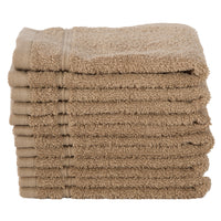 Brown 6 PACK Turkish Cotton Washcloths Towels Set | Super Soft Highly Absorbent | Spa&Hotel Quality
