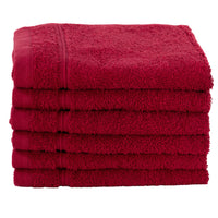 Burgundy 6 PACK Turkish Cotton Washcloths Towels Set | Super Soft Highly Absorbent|Spa&Hotel Quality