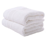 White 2 PACK Turkish Cotton Bath Towels Set | Super Soft Highly Absorbent | Spa & Hotel Quality