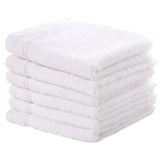 White 6 PACK Turkish Cotton Washcloths Towels Set | Super Soft Highly Absorbent | Spa&Hotel Quality