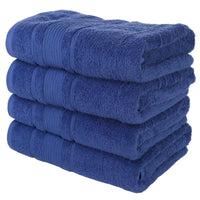 White 4 PACK Turkish Cotton Bath Towels Set | Super Soft Highly Absorbent | Spa & Hotel Quality