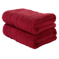 Brown 2 PACK Turkish Cotton Bath Towels Set | Super Soft Highly Absorbent | Spa & Hotel Quality