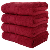 Yellow 4 PACK Turkish Cotton Bath Towels Set | Super Soft Highly Absorbent | Spa & Hotel Quality