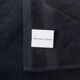 Black 4 PACK Turkish Cotton Bath Towels Set | Super Soft Highly Absorbent | Spa & Hotel Quality