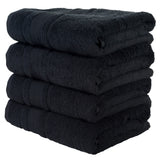 Green 4 PACK Turkish Cotton Bath Towels Set | Super Soft Highly Absorbent | Spa & Hotel Quality