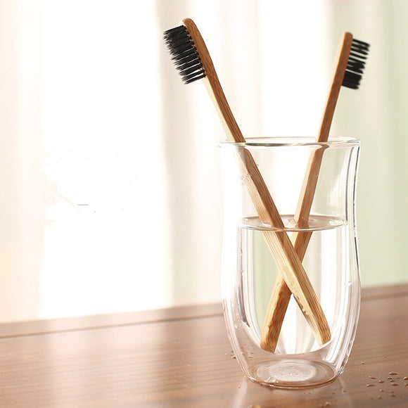 Eco Bamboo Charcoal Toothbrush - Soft Bristle Brushes-The Lustre Company