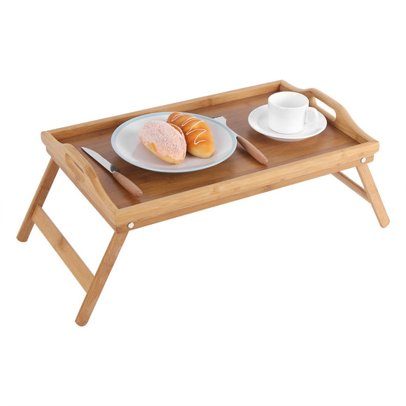 Foldable Wooden Bamboo Bed Tray-The Lustre Company
