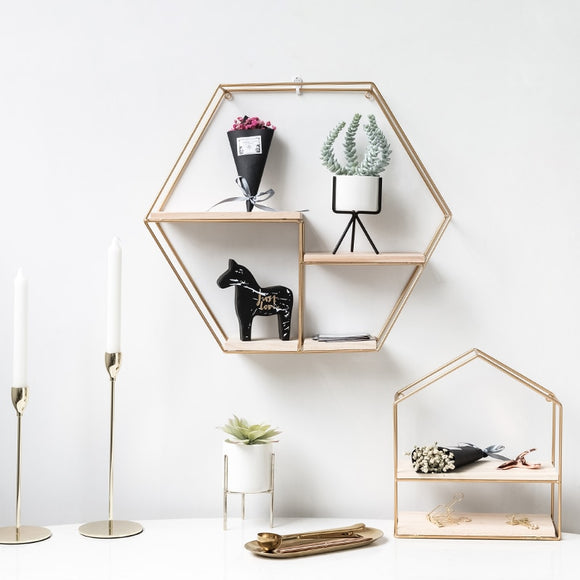 Scandinavian Wooden Storage Shelves-The Lustre Company