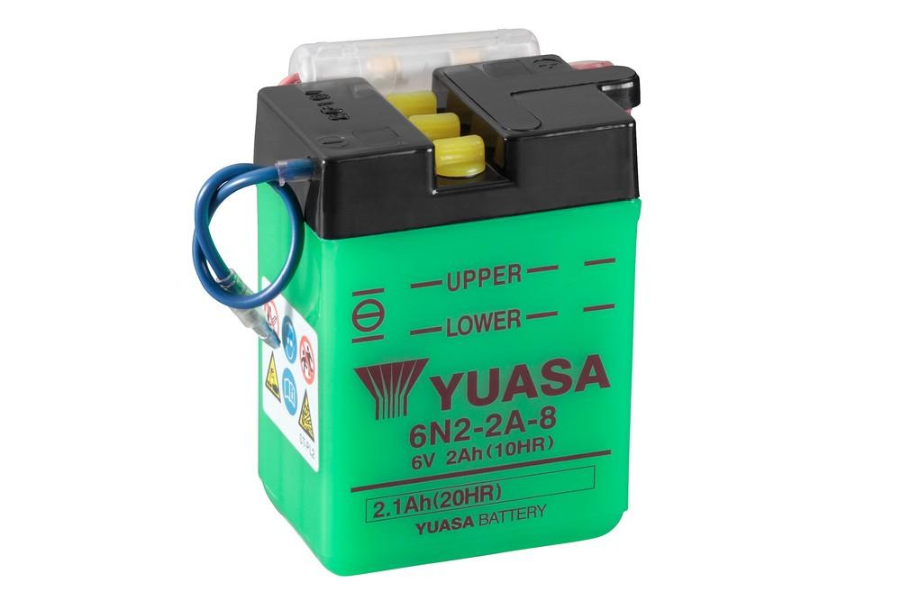 6N2-2A-8 battery from Batteryworld.ie