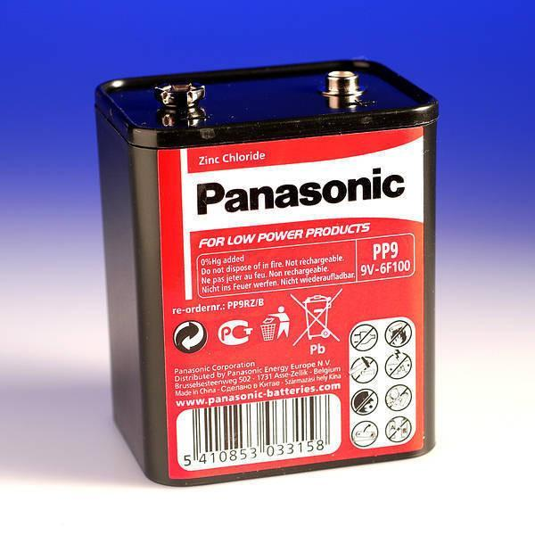 pp9 9v zinc battery from Batteryworld.ie