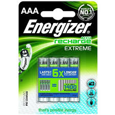 AAA  rechargeable pack of 4