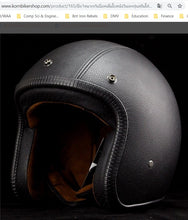 Load image into Gallery viewer, KB-HELLT - Vintage Style Leather-Covered Helmet