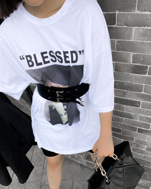 BLESSED oversize soft tee