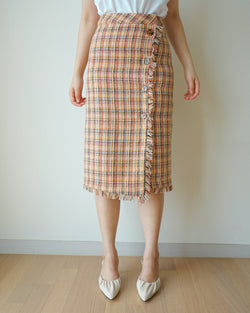 tweed skirt with button - MISSPLABED OFFICIAL
