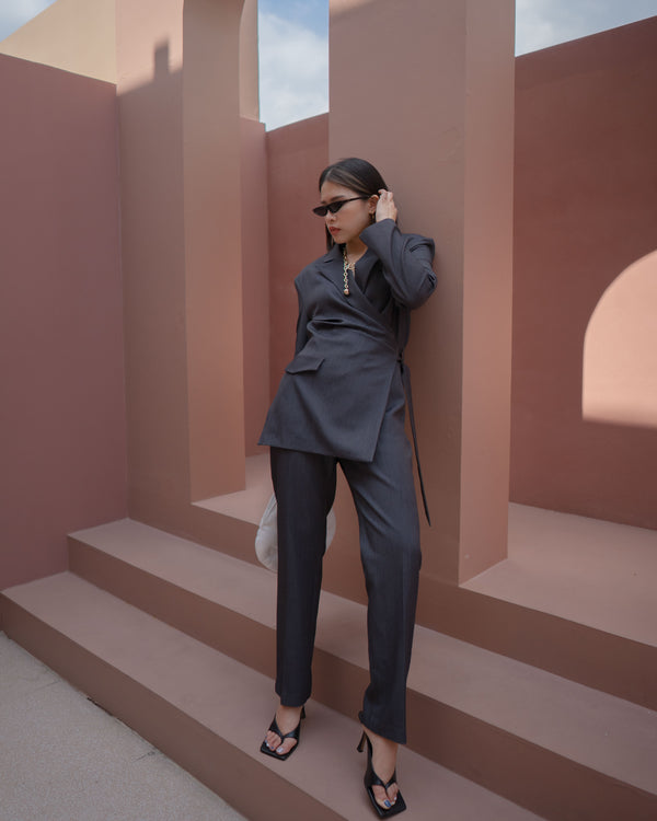 wrap suit jumpsuit