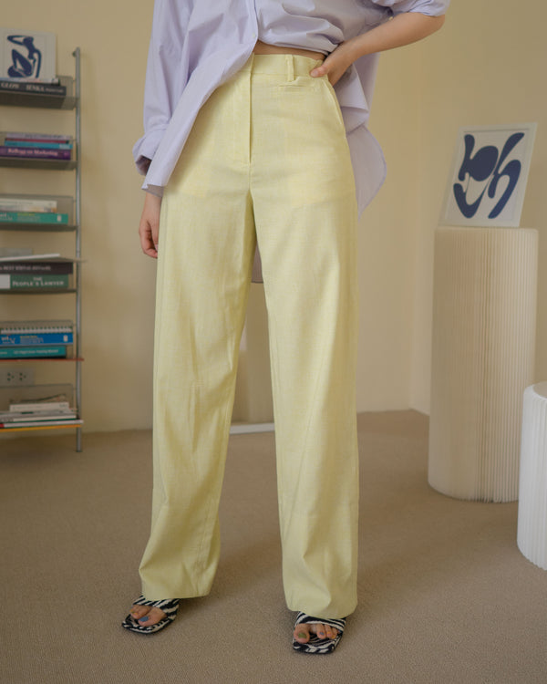 tailored set-up trousers