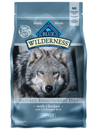 Blue Buffalo® Wilderness™ Nature's Evolutionary Diet Grain Free Chicken Adult Dog Food 11 Lbs - Cozzzy Goods