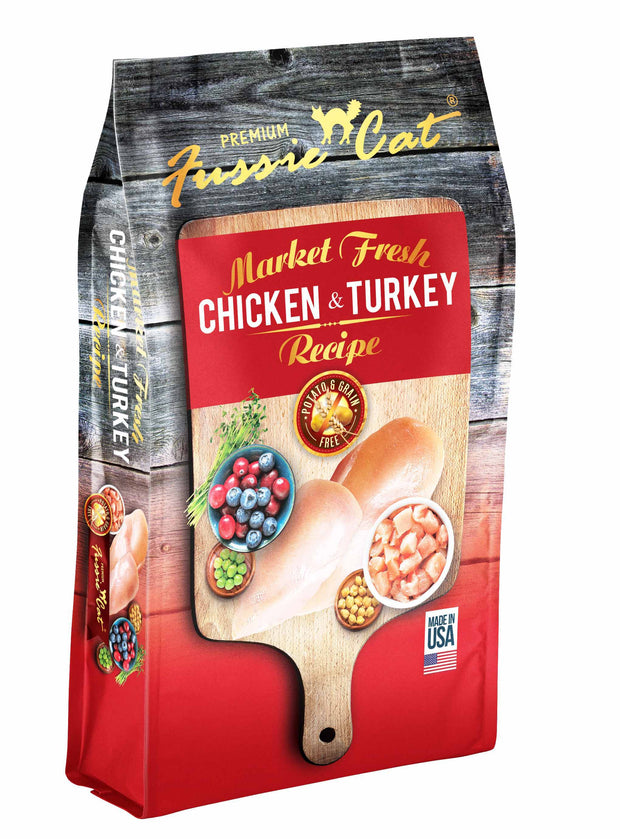 Fussie Cat® Market Fresh Chicken & Turkey Recipe Premium Cat Food 10 Lbs - Cozzzy Goods