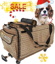 TopiTop Cozzzy Pet Carrier for Plane with Wheels, Soft Sided for Small Dogs, Medium Cats Other Small Pets, 18in 11in 11in MEDIUM