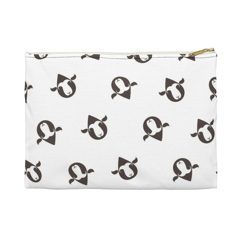 Essential Wool Print Accessory Pouch
