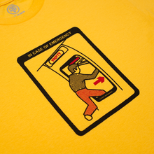 "Load image into Gallery viewer, ""EMERGENCY"" TEE YELLOW"