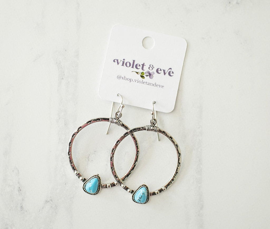 Aztec Hoop Earrings - Violet and Eve