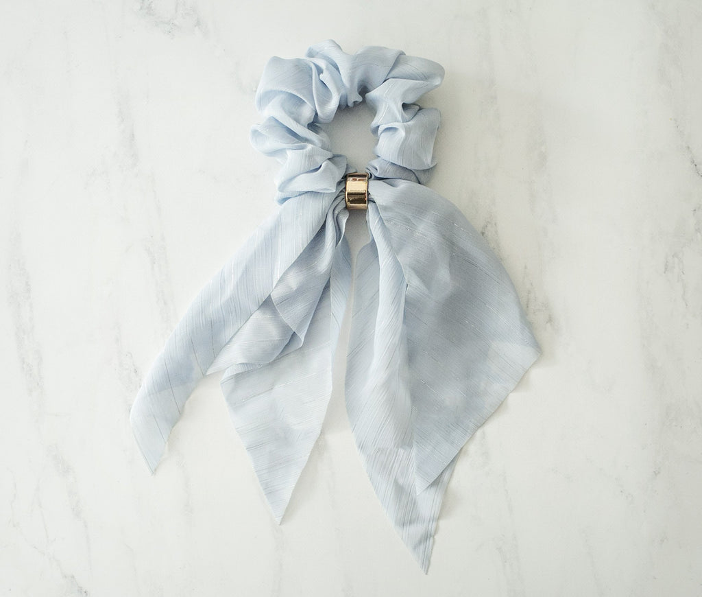 Bella Chiffon Scarf Scrunchies - Violet and Eve