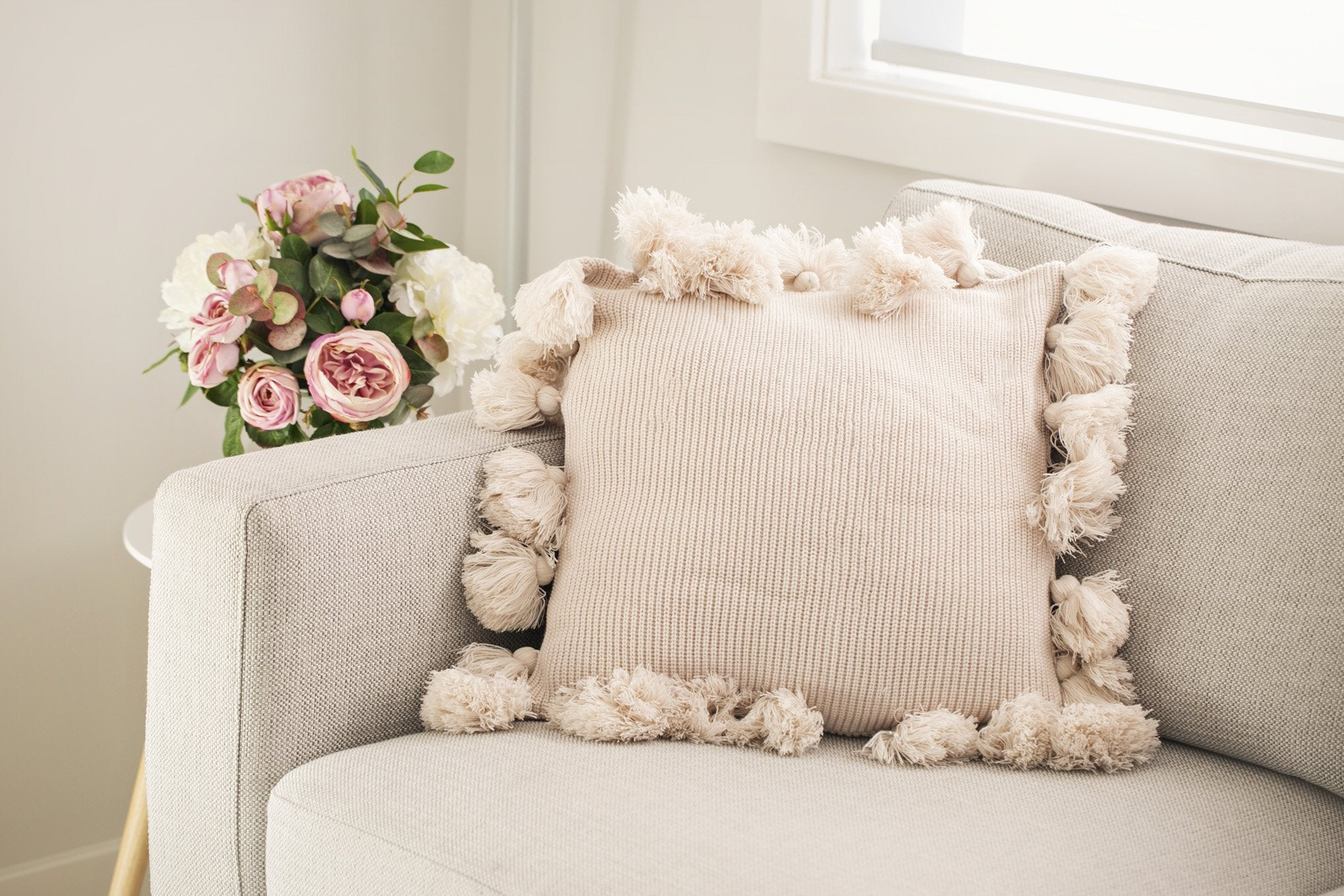Casual Pom Pom Cushions - Violet and Eve