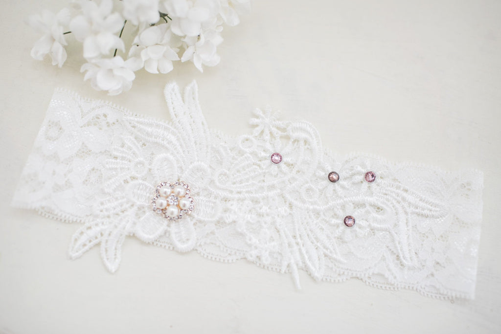 Christine Bridal Garter Set - Violet and Eve