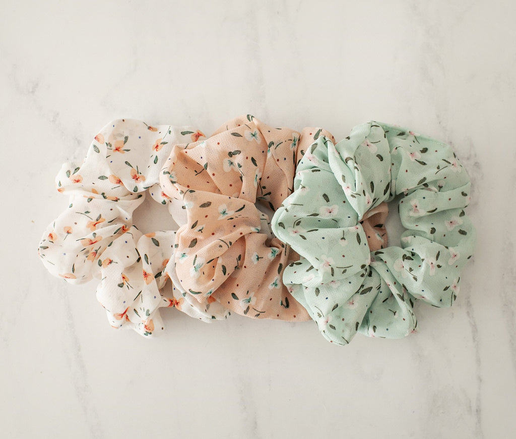 Cutesie Bloom Scrunchies - Violet and Eve