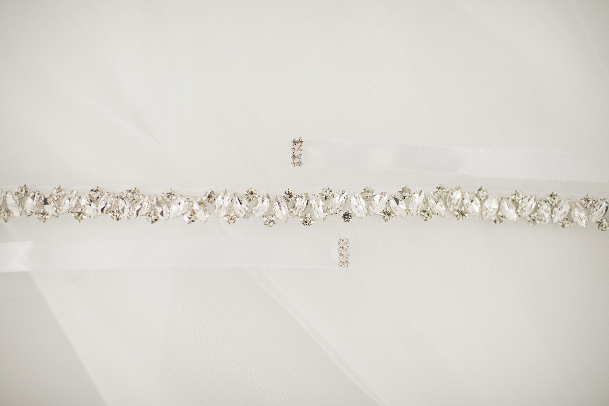 Dainty Diamante Bridal Sash - Violet and Eve
