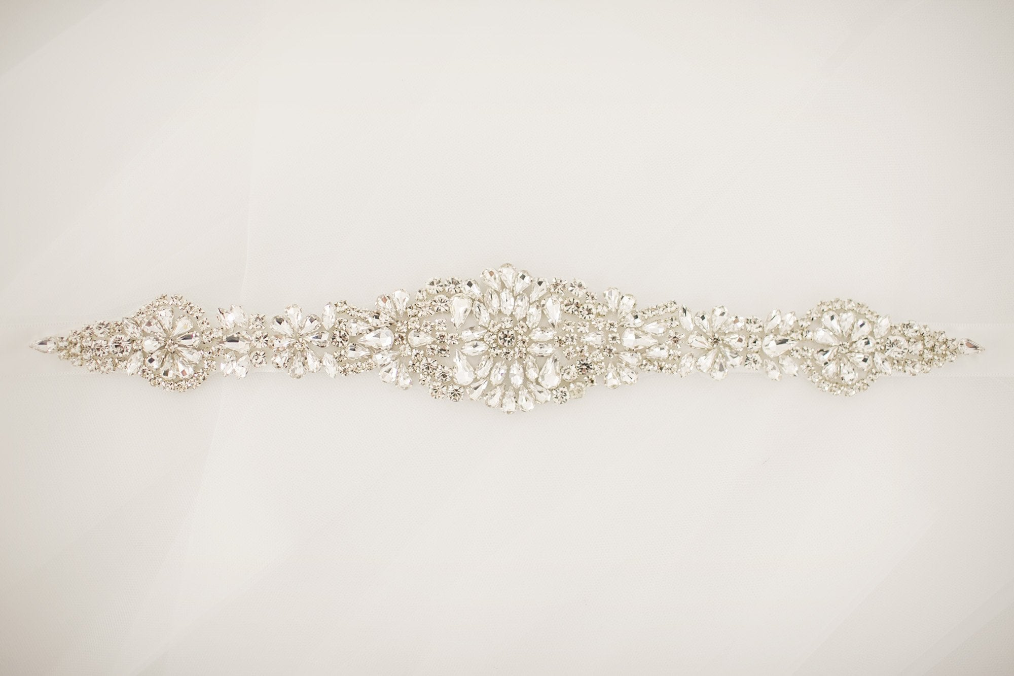 Diamante Bling Bridal Sash - Violet and Eve