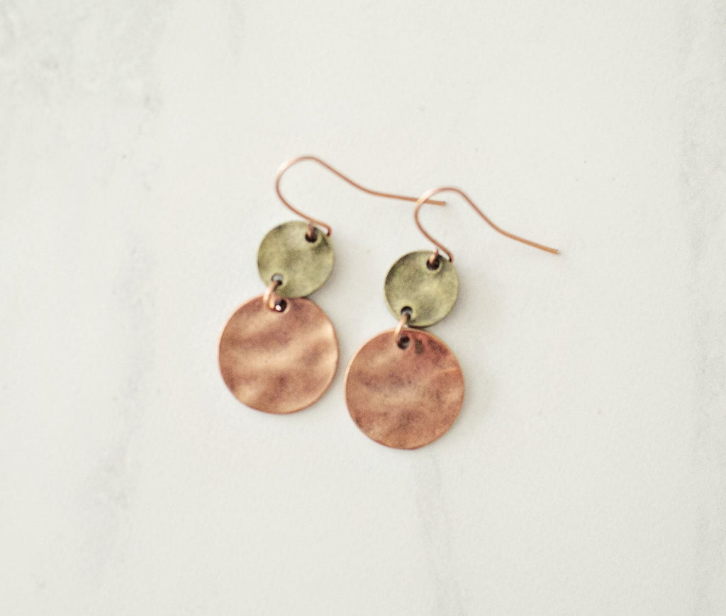 Georgie Bronze Earrings - Violet and Eve