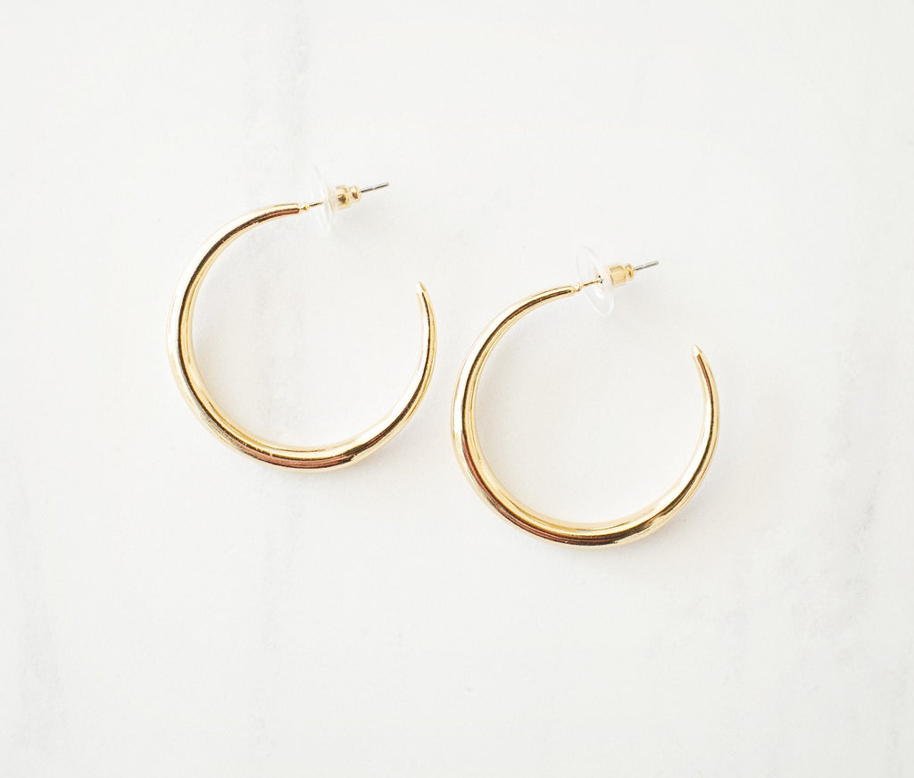 Gold Hoops - Violet and Eve
