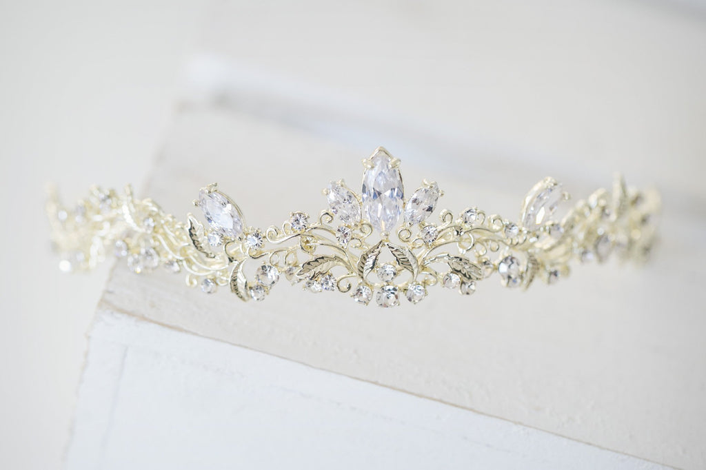 Gold Princess Bridal Tiara - Violet and Eve