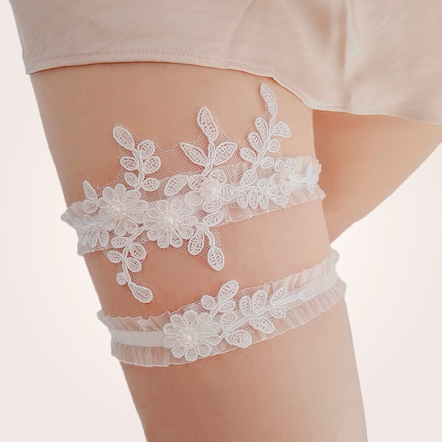 Jennifer Bridal Garter Set - Violet and Eve