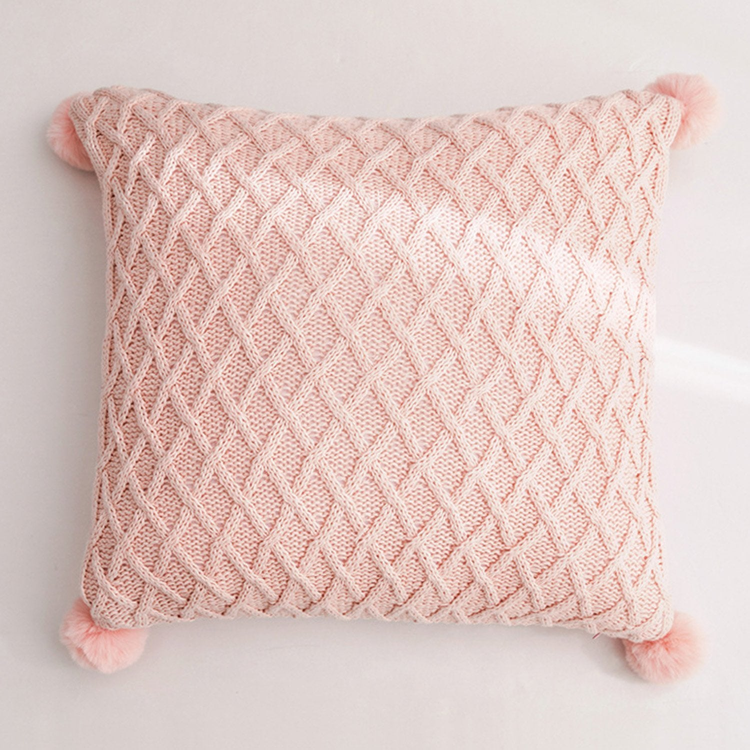 Lattice Pom Pom Cushions - Violet and Eve