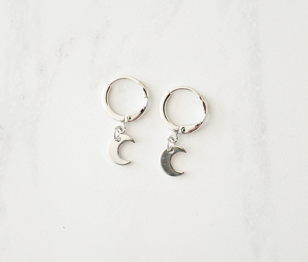 Moonshine Earrings - Silver - Violet and Eve