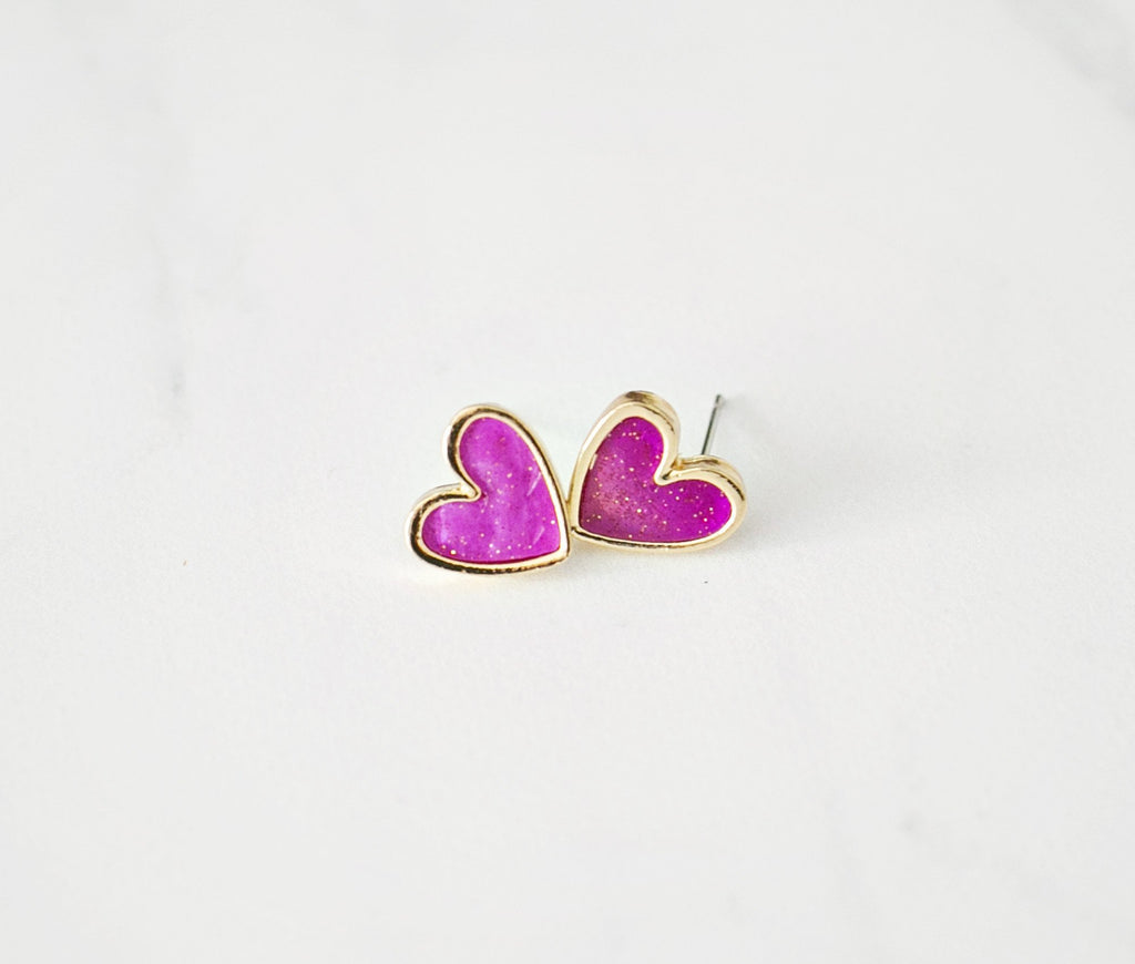 My Heart Earrings - Fuchsia - Violet and Eve