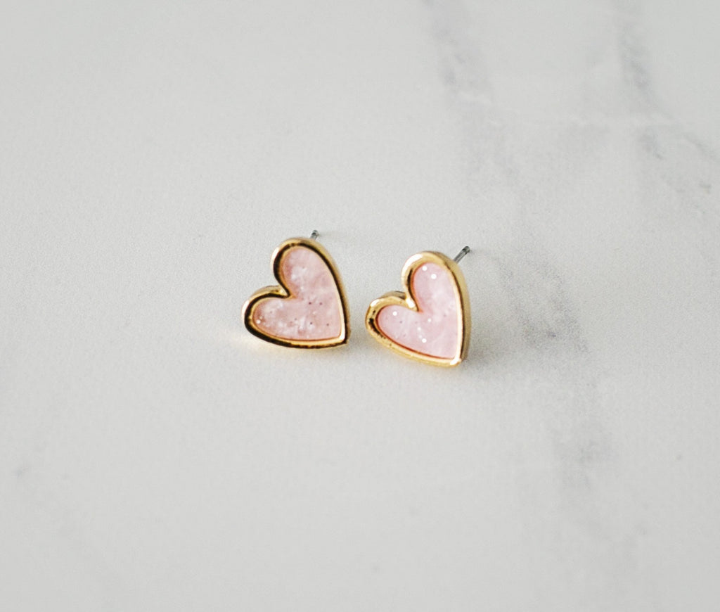 My Heart Earrings - Pink - Violet and Eve