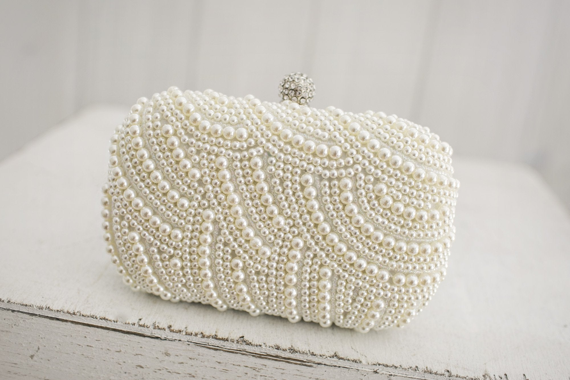 Pearl Clutch - Violet and Eve