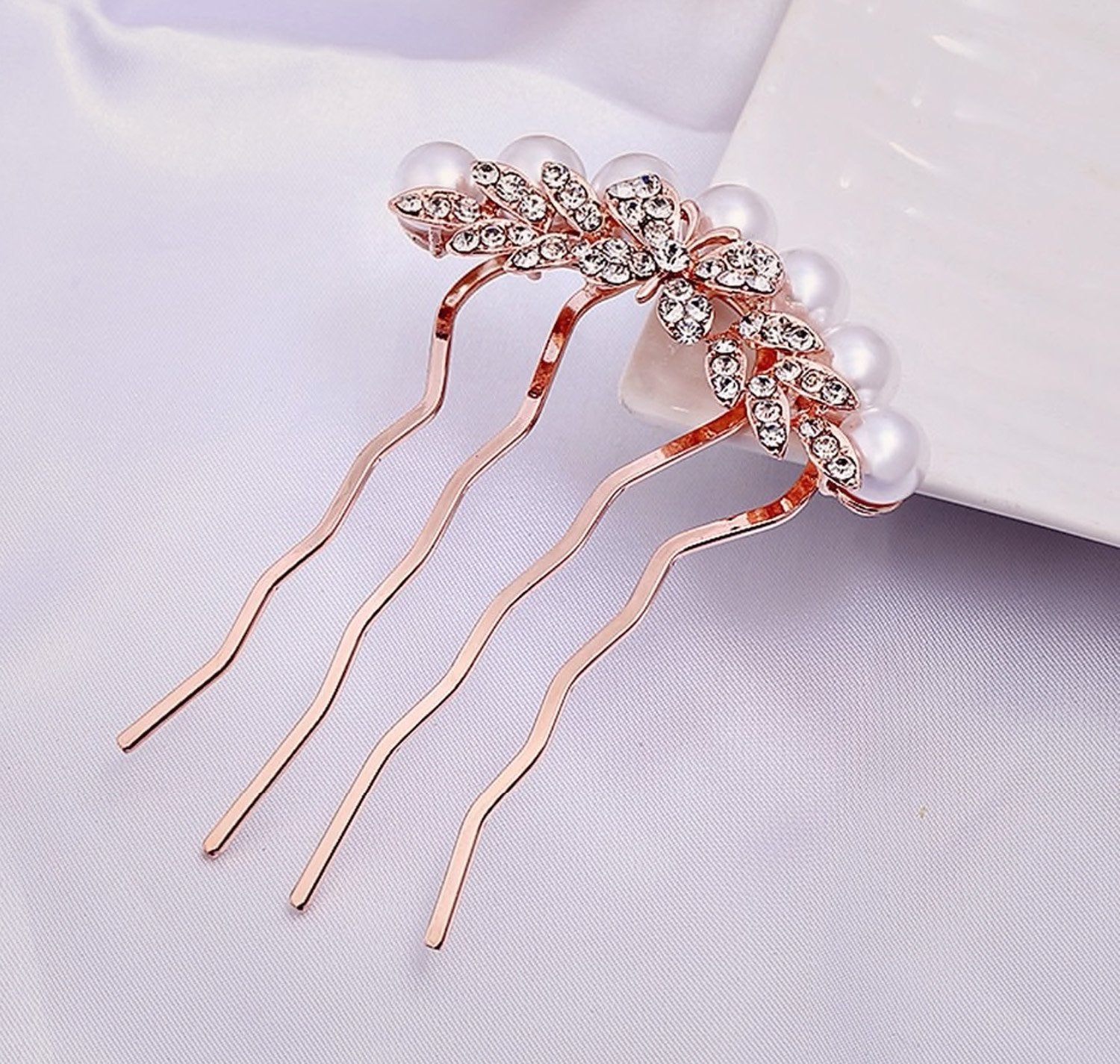 Rose Gold Butterfly Comb - Violet and Eve