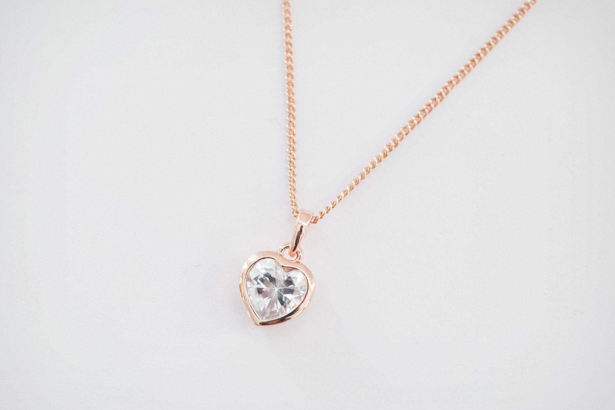Rose Gold Heart Necklace - Violet and Eve