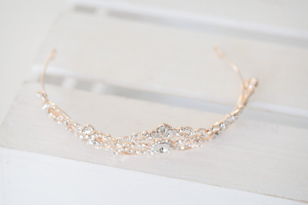 Royal Rose Gold Bridal Tiara - Violet and Eve