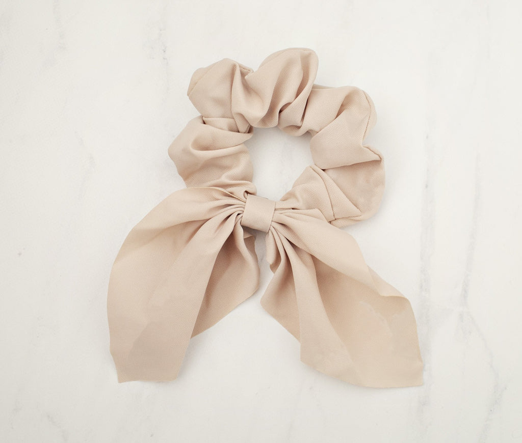 Sassy Bow Scrunchie - Fawn - Violet and Eve