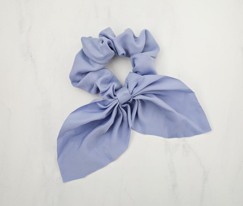 Sassy Bow Scrunchie - Soft Blue - Violet and Eve