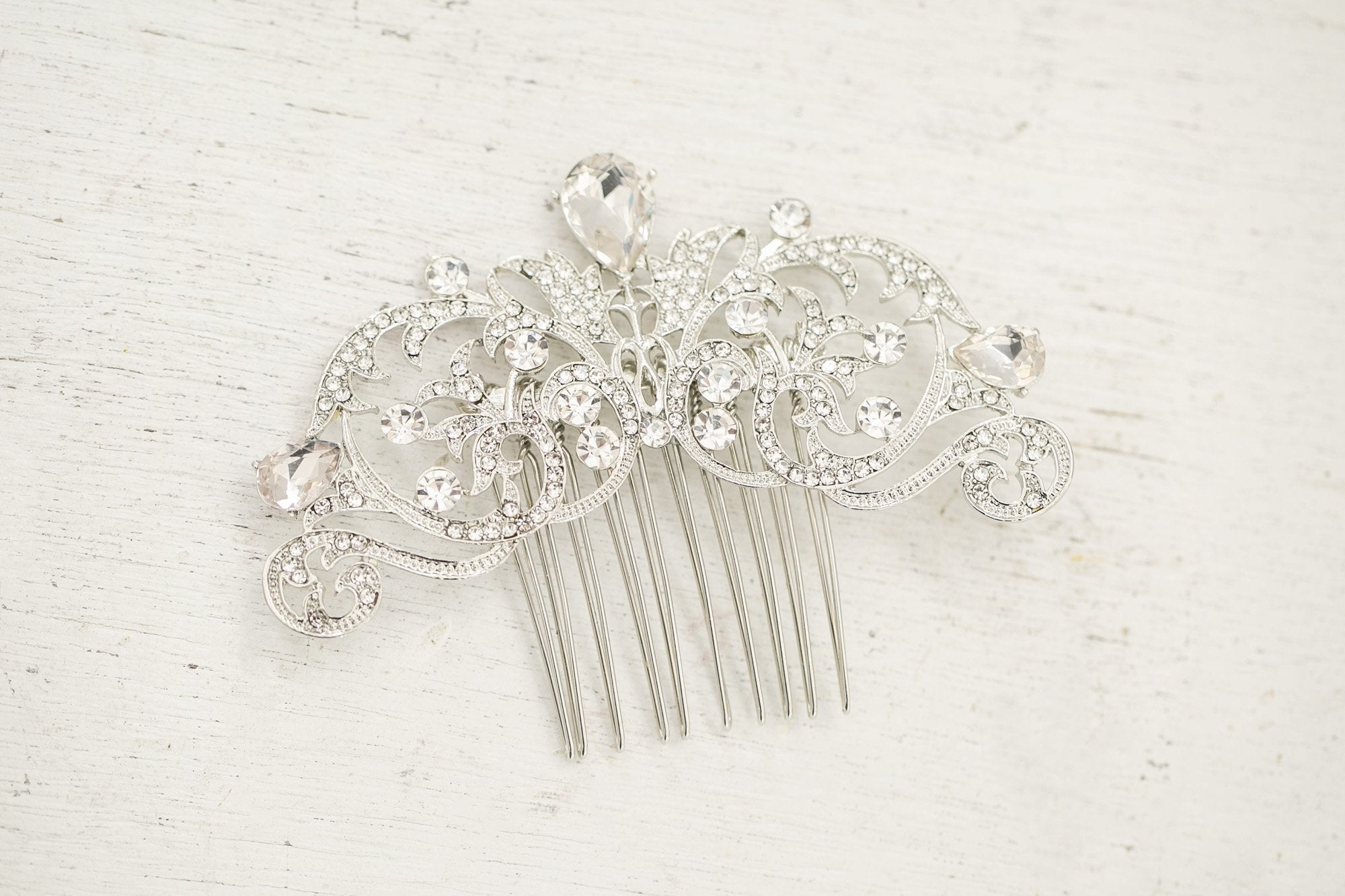 Silver Baroque Comb - Violet and Eve